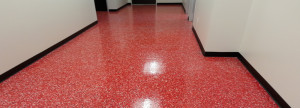 Commercial Epoxy Flooring - Red Floor